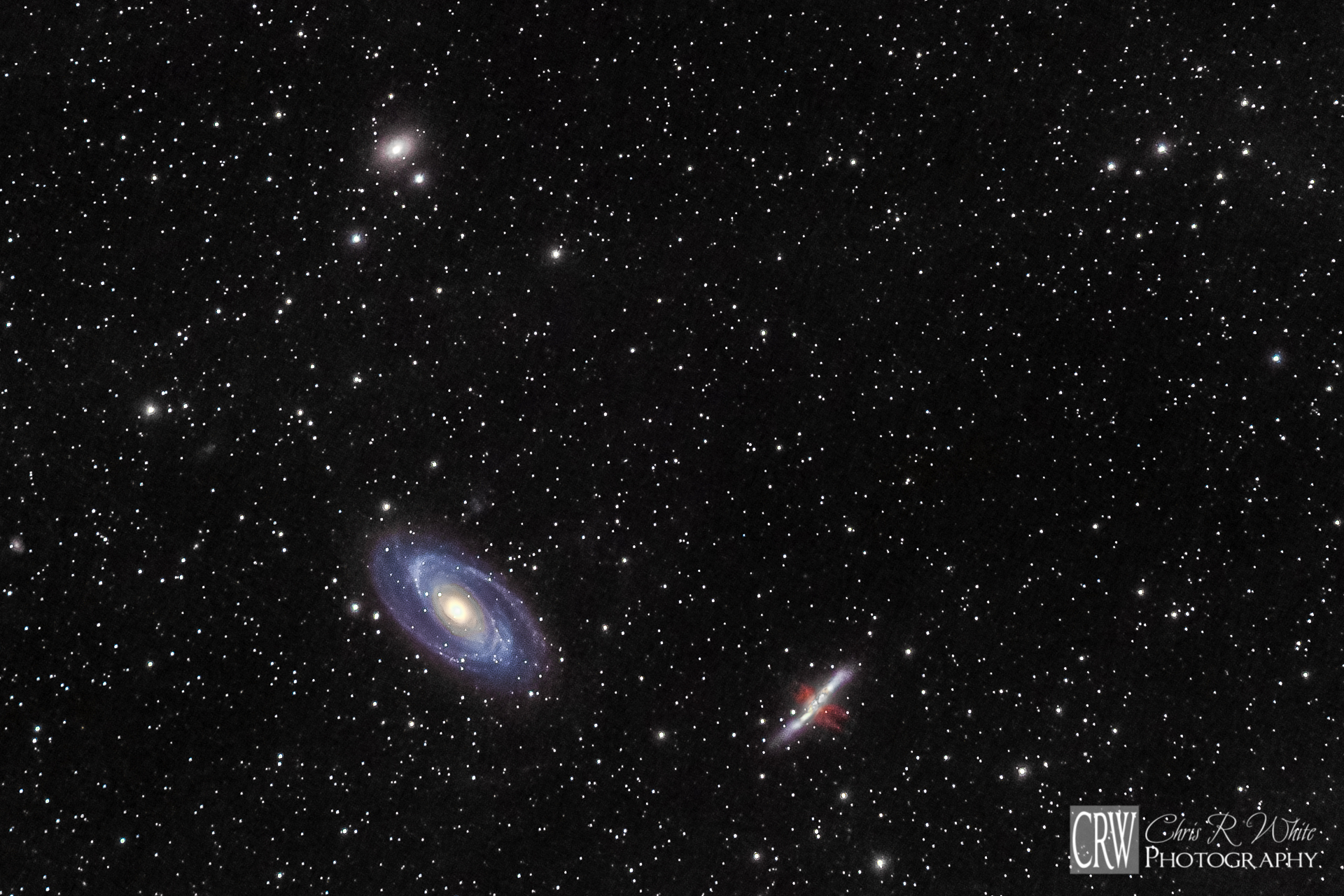 A closer crop for composition to better isolate M81 and M82.