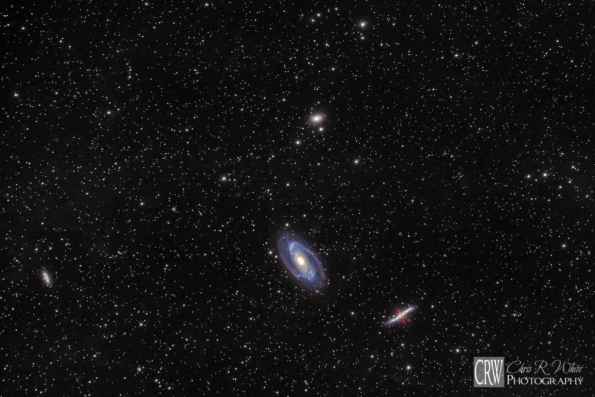 Widefield view of M81 and M82 Galaxies.