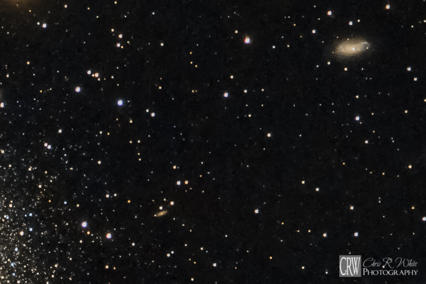 Galaxy NGC 6207 is easily seen in the upper right of this crop.  Look closely and you will also see the tiny Galaxy IC 4617.