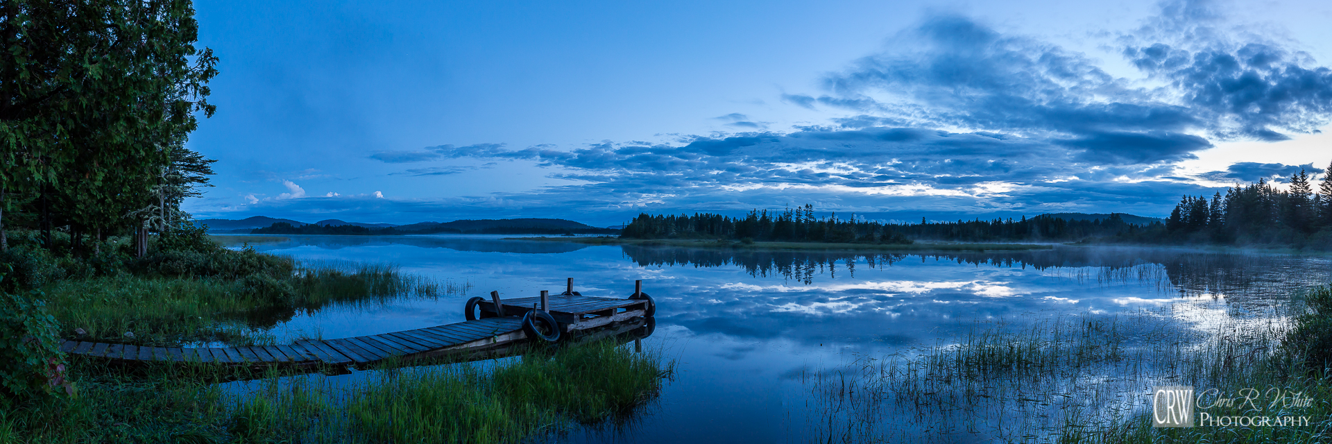 Before sunrise at our remote North Woods campsite.   -Click Image for Larger View-